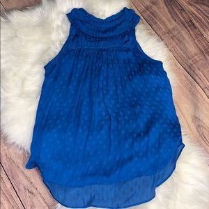 Maeve blue sleeveless blouse size 0